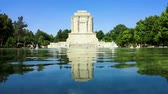 kompliziert : Tus Panoramic Tomb of Ferdowsi with Pond Fountains and Trees