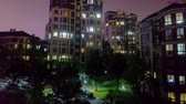 urbane : Time Lapse Wuhu Anhui China Multi Level Apartment Building with Blue Sky Background at Night Stock Footage