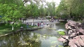pavilion : Local Chinese People are relaxing at the Urumqi Shuimogou Scenic Area Park