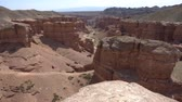 cazaquistão : Charyn National Park Sharyn Canyon Breathtaking Picturesque View of Rock Formations