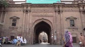 Lahore Historic Dehli Gate Front View with People