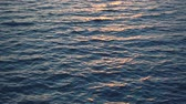 Beautiful sunset over ocean, sun reflect in water. 4k pro res video. Filmati Stock