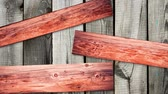 muster retro : motion of aged wooden planks across screen Videos