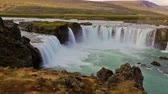 smooth water : Godafoss waterfall, Iceland