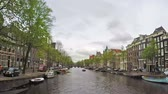 Time lapse video of a canal in Amsterdam, Netherlands