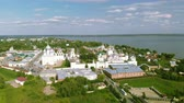 santuário : Aerial view of Rostov Kremlin and Lake Nero in Northern Russia