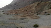 Aerial view of ancient beehive tombs near Al Ain, UAE