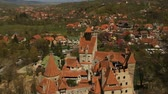 стена : Aerial view of Bran castle, Romania