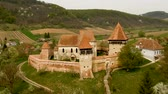 zeď : Fortified Church in Alma Vii village, Transylvania - Romania