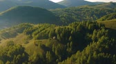 venkov : Aerial view above the rural hills in Apuseni Mountains, Romania