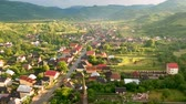 деревня : Aerial view over Ieud village, Maramures - Romania