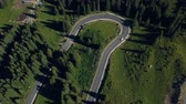 droga : Aerial view of Transalpina mountain road, Romania