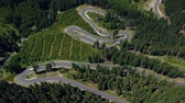 curva : Aerial view of Transalpina mountain road, Romania