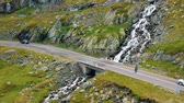 carpathians : Summer aerial view of Transfagarasan mountain road, Romania