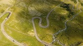 montão : Summer aerial view of Transfagarasan mountain road, Romania