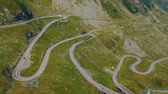 karpaty : Summer aerial view of Transfagarasan mountain road, Romania