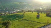gezi : Aerial view above Sadova village, Bucovina