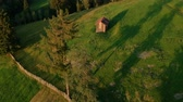 feno : Aerial view above Sadova village, Bucovina
