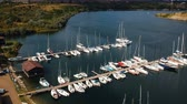 doca : Aerial view of yacht harbour marina