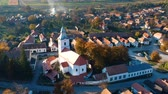 Aerial view above Rimetea Village, Transylvania - Romania