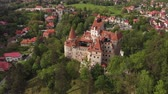 romanya : Aerial view of Bran castle, Brasov - Romania