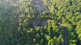 джунгли : Aerial view of mountain road, at sunrise