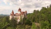 kastély : Aerial view of Bran castle, Brasov - Romania