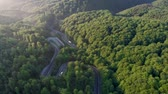 gezi : Aerial view of cars driving on a curvy mountain road