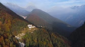 szlovénia : Autumn aerial view of Fort Predel, in Slovenia, at the foot of The Julian Alps