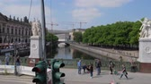 classicism : Berlin, Germany 15 May 2018: historical objects, palace bridge with statues in Berlin, 15 May 2018