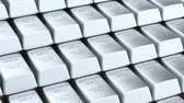Platinum bars background, animation. 3D rendering Stock Footage