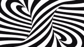 Black and white abstract spiral background animation, 3D rendering