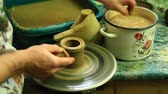 carafe : Pottery making process. Process of making a pottery