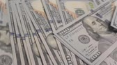 alcance : new Hundred Dollar Bills for background Stock Footage