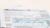księgowa : Income tax form and pen. Finance concept  1040 form