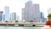 yatırım : Miami Skyline. Brickell Key Waterfront. luxury hotels and condominiums