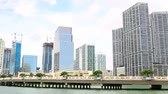 Miami Skyline. Brickell Key Waterfront. luxury hotels and condominiums