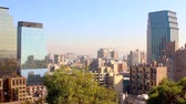 andy : Skyline view of Santiago de Chile city in the morning on a sunny day