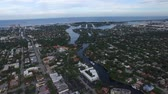 Aerial view of Fort Lauderdale, Florida. homes and canals