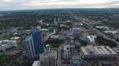 Aerial view of Fort Lauderdale, Florida. office buildings and small homes Wideo