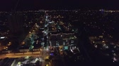 Aerial view of Fort Lauderdale, Florida at night. lights Wideo