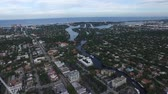 Fort lauderdale, florida. travel location. aerial view Wideo