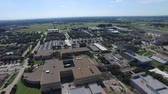 Buildings view from above. sunny day drone Wideo
