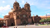 Iglesia de la Compania de Jesus - Church of the Society of Jesus, Cuzco, Peru Wideo