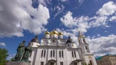 manzara : Clouds running above dome of the Church Timelapse