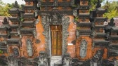 hinduizm : Aerial view of Traditional Hindu temple, Bali,Indonesia. Balinese Hindu Temple, old hindu architecture, Bali Architecture, Ancient design. Travel concept. Aerial footage.