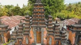 индуизм : Aerial view of Traditional Hindu temple, Bali,Indonesia. Balinese Hindu Temple, old hindu architecture, Bali Architecture, Ancient design. Travel concept. Aerial footage.