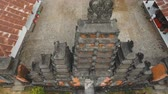 endonezya : Aerial view of Traditional Hindu temple, Bali,Indonesia. Balinese Hindu Temple, old hindu architecture, Bali Architecture, Ancient design. Travel concept. Aerial footage.