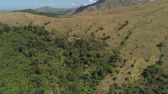 пики : Mountain province with valley on the island of Luzon, Philippines. Aerial view of Mountains covered with forest.