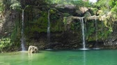 piscina : Waterfall in green rainforest. Bolinao waterfall in the mountain jungle. Philippines, Luzon. Travel concept.